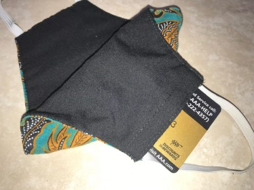 Stash mask showing pocket